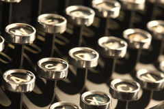 Chaves da máquina de escrever do vintage Imagem de Stock