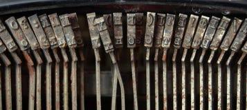 Chaves da máquina de escrever do vintage Fotografia de Stock Royalty Free
