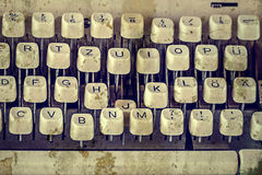 Chaves da máquina de escrever velha 1 Foto de Stock