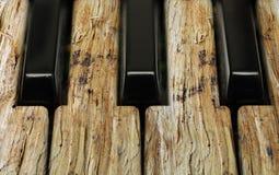 Chaves da música com textura Fotografia de Stock Royalty Free