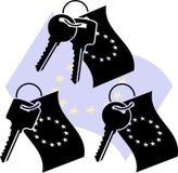 Chaves da UE Fotografia de Stock