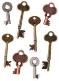 Chaves de esqueleto da porta Imagens de Stock