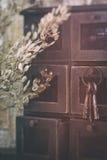 Chaves de esqueleto e gavetas pequenas Fotos de Stock