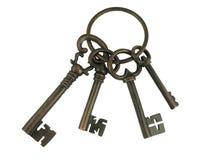 Chaves de esqueleto em um anel Imagem de Stock