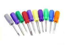 Chaves de fenda coloridas Imagem de Stock