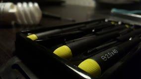 Chaves de fenda em minha mesa foto de stock