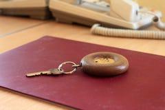 Chaves de quarto do hotel Fotografia de Stock Royalty Free