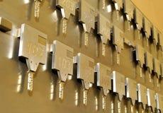 Chaves de quarto do hotel Imagens de Stock