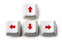 Chaves de seta do cursor no branco fotografia de stock royalty free