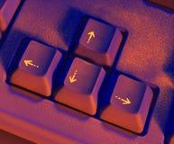 Chaves de seta no teclado Imagens de Stock