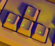 Chaves de seta no teclado Imagens de Stock Royalty Free