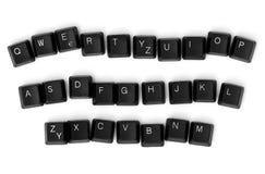 Chaves de teclado isoladas Fotos de Stock Royalty Free