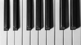 Chaves de um piano de cauda Fotografia de Stock