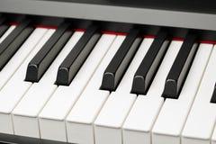 Chaves do ébano e do marfim do piano de cauda Imagem de Stock Royalty Free