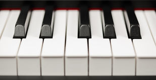 Chaves do ébano e do marfim do piano de cauda Foto de Stock Royalty Free