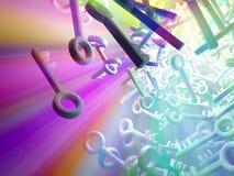 Chaves do espectro Fotografia de Stock