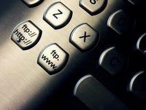 Chaves do ftp e da Web Fotos de Stock