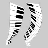 Chaves do piano Fotografia de Stock Royalty Free