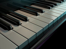 Chaves do piano ilustração royalty free