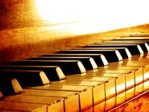 Chaves do piano do Sepia fotos de stock