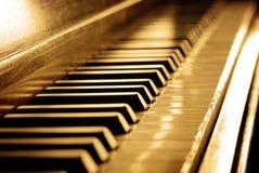 Chaves do piano do Sepia fotografia de stock royalty free