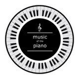 Chaves do piano em um círculo ilustração stock