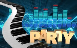 chaves do piano do espectro 3d Imagens de Stock Royalty Free