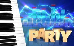 chaves do piano do espectro 3d Imagem de Stock Royalty Free