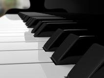 Chaves do piano grande, música Imagens de Stock Royalty Free