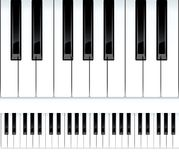 Chaves do piano. Ilustração sem emenda. Fotografia de Stock Royalty Free