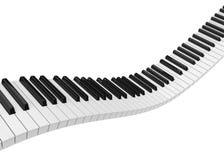 Chaves do piano isoladas ilustração stock