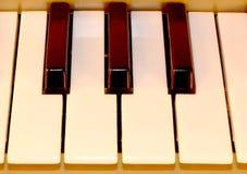 Chaves do piano Teclado sem redução Jogo do piano da oitava Imagem de Stock