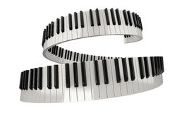 Chaves do piano (trajeto de grampeamento incluído) Imagens de Stock Royalty Free