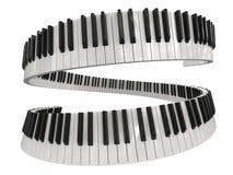 Chaves do piano (trajeto de grampeamento incluído) Foto de Stock Royalty Free