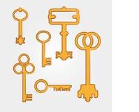 Chaves douradas ilustração royalty free