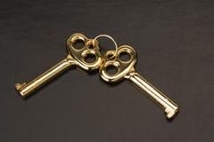 Chaves douradas Imagem de Stock Royalty Free