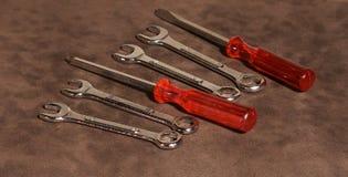 Chaves e chaves de fenda ajustadas Foto de Stock Royalty Free