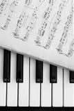 Chaves e notas do piano Imagem de Stock Royalty Free