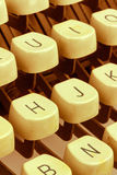 Chaves em uma máquina de escrever Imagem de Stock Royalty Free
