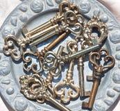 Chaves grandes retros do metal Imagem de Stock
