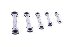 Chaves inglesas de Rachet Imagem de Stock