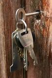 Chaves no fechamento Foto de Stock
