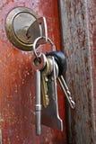 Chaves no fechamento Fotografia de Stock