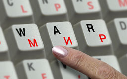 Chaves no teclado e a guerra e a paz da palavra Imagens de Stock Royalty Free