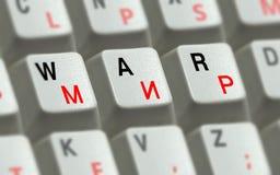 Chaves no teclado e a guerra e a paz da palavra Fotografia de Stock Royalty Free
