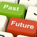 Chaves passadas e futuras que mostram o envelhecimento ou o progresso da evolução Imagem de Stock