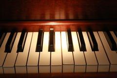 Chaves velhas do piano Imagem de Stock Royalty Free