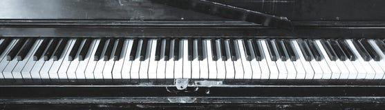 Chaves velhas do piano foto de stock royalty free