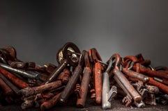 Chaves velhas oxidadas Fotografia de Stock