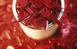 Chaves vermelhas Fotos de Stock Royalty Free